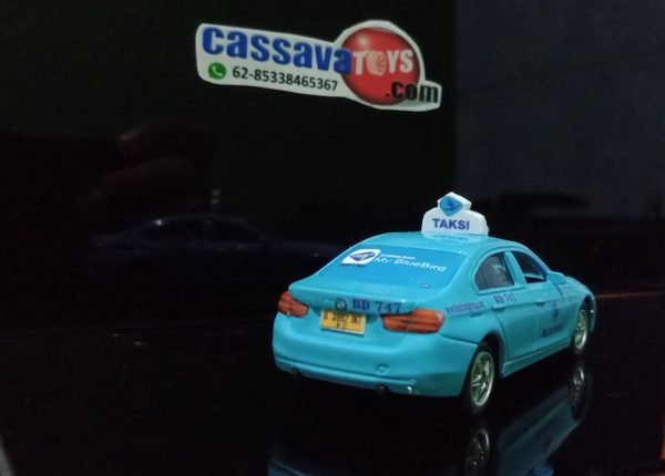 diecast taxi blue bird